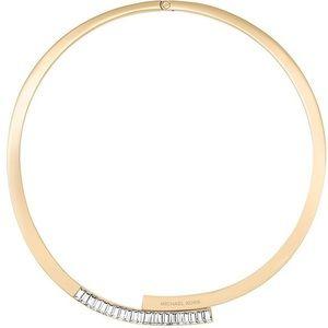 Michael Kors Gold Crystal Collar Necklace